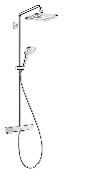 hansgrohe Croma E Showerpipe 280 1jet med termostat - krom