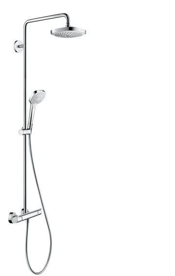 hansgrohe Croma Select E 180 2jet EcoSmart showerpipe - Hvid/krom