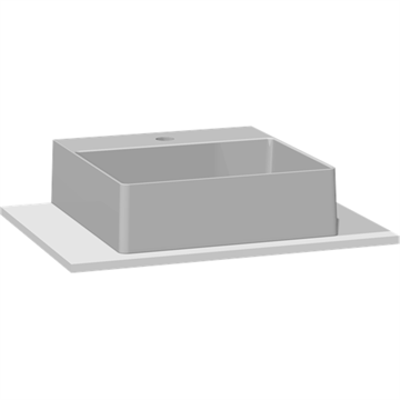 Dansani You MARCATO solid surface vask inkl. solid surface bordplade 60 cm, med hanehul