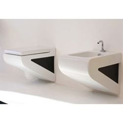 Lavabo Vaso toilet sort