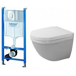 Duravit Starck 3 compact pakke med Grohe cisterne